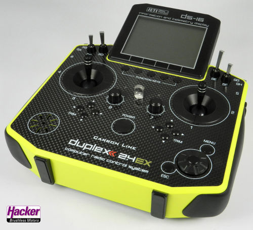 DUPLEX 2,4EX Handsender DS-16 Carbon Yellow Multimode