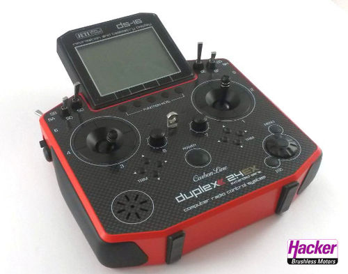 DUPLEX 2,4EX Handsender DS-16 Carbon Red Multimode
