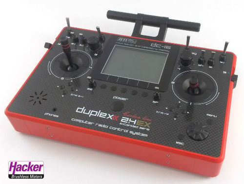 DUPLEX 2,4EX Pultsender DC-16 RED Carbon Mode 2/4