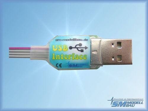 USB Interface, für InfoSwitch, LipoWatch, UniSens und UniLog, SM # 2550